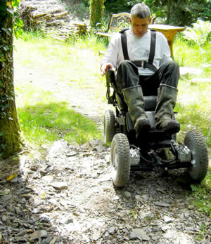Off road wheelchair in action
